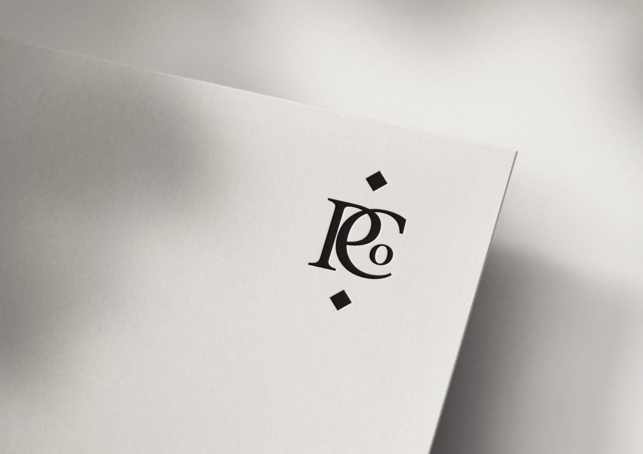 Poirrier & Co Couture Monogram Logo Design by Fancy Girl Design Studio | elegant, timeless, yet bold enough to make a statement