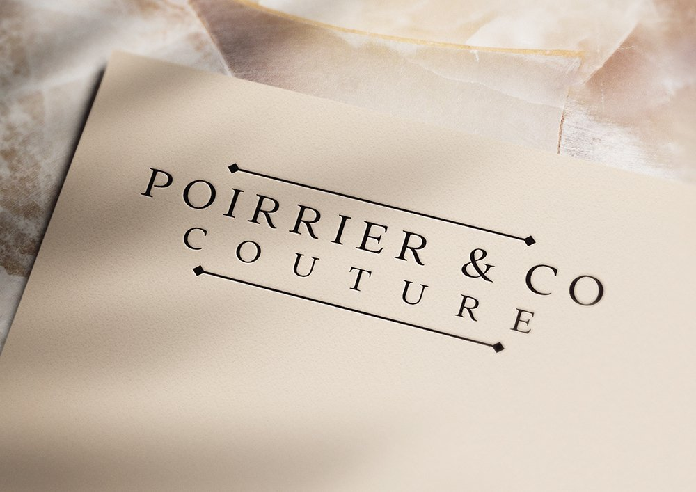 Poirrier & Co Couture Wordmark Logo Design by Fancy Girl Design Studio | elegant, timeless, yet bold enough to make a statement
