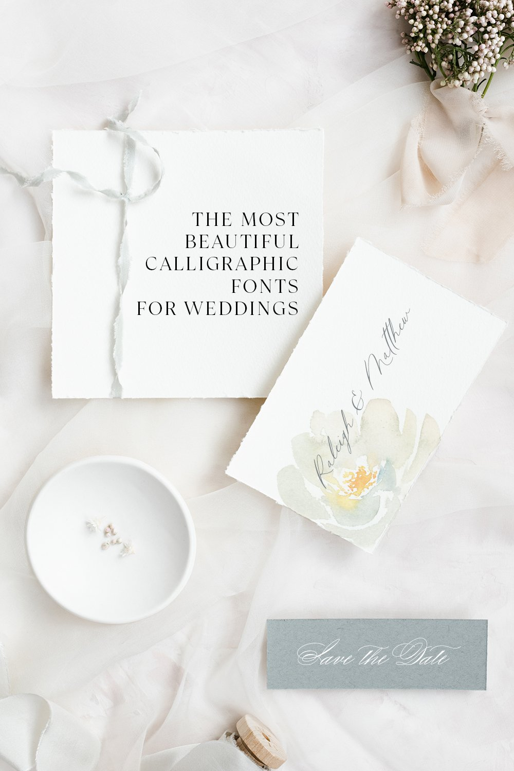 the most beautiful calligraphic typefaces for weddings by fgd
