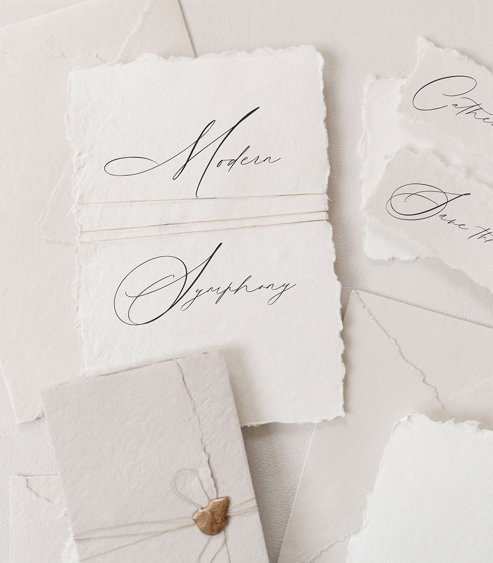 Modern Symphony Scipt - 12 of the most beautiful calligraphy fonts for weddings