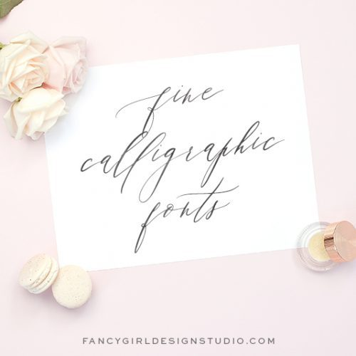 fine calligraphy fonts cover